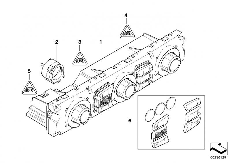 bmw e60 interior temperature sensor fan