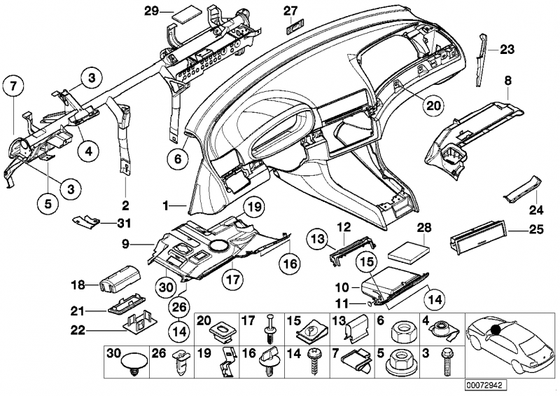 51458226571 hinged compartment bmw buy online at a good price