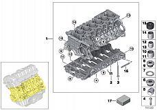 23 00 0 392 607 Satz Alu-Schrauben Schaltgetriebe