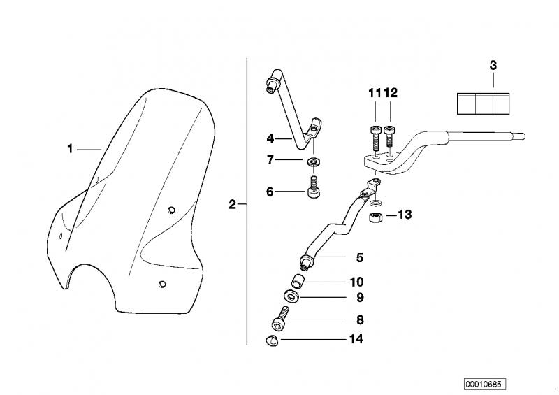 46632317445 windschild bmw motorrad ersatzteil online. Black Bedroom Furniture Sets. Home Design Ideas