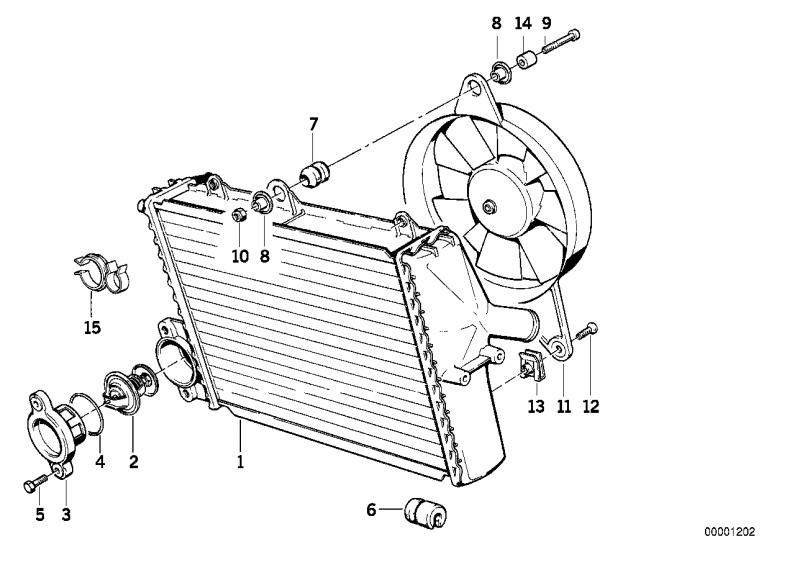 17111464568 kuehlmittelkuehler bmw motorrad ersatzteil. Black Bedroom Furniture Sets. Home Design Ideas