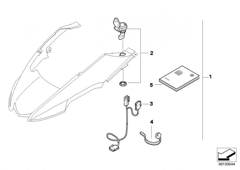71607685121 nachruestsatz steckdose bmw motorrad online. Black Bedroom Furniture Sets. Home Design Ideas