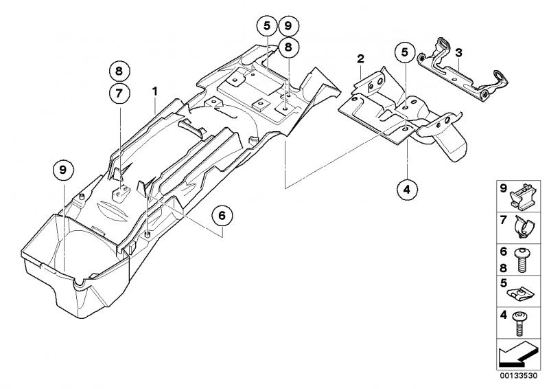 46627668781 halter heckleuchte bmw motorrad online g nstig. Black Bedroom Furniture Sets. Home Design Ideas