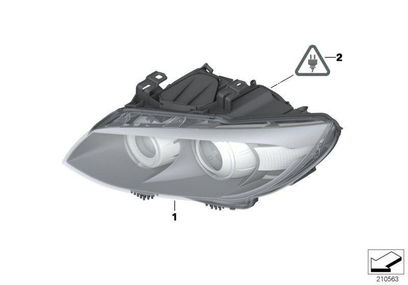63117273211 scheinwerfer ahl xenonlicht links bmw motorrad. Black Bedroom Furniture Sets. Home Design Ideas