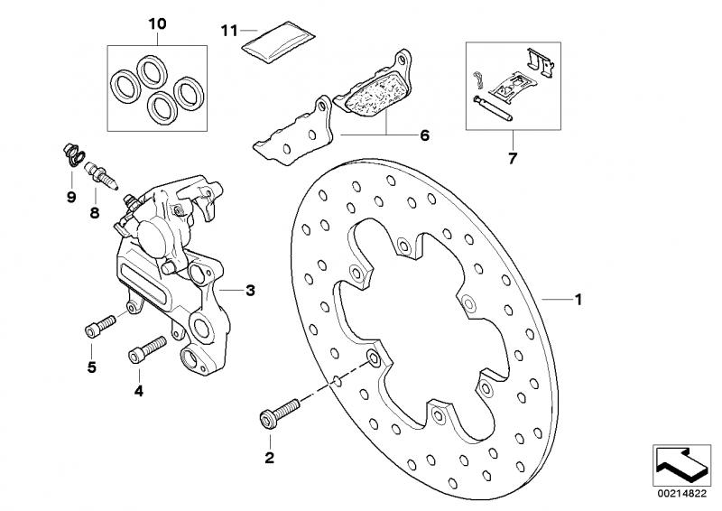 34217664983 satz bremsbelaege bmw motorrad online g nstig. Black Bedroom Furniture Sets. Home Design Ideas