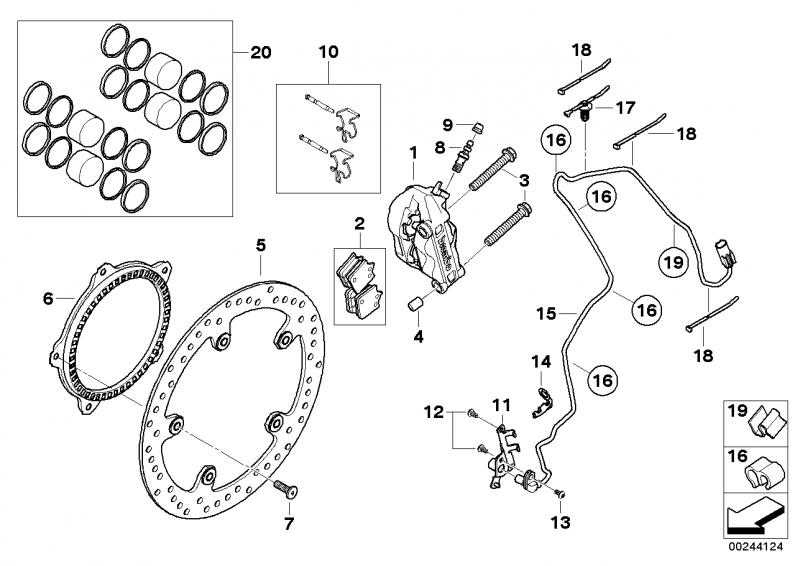 34117714800 satz bremsbelaege sintermetall bmw motorrad. Black Bedroom Furniture Sets. Home Design Ideas