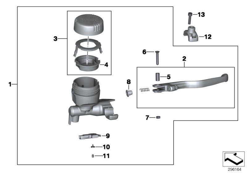 32728524170 handbremshebel bmw motorrad online g nstig kaufen. Black Bedroom Furniture Sets. Home Design Ideas