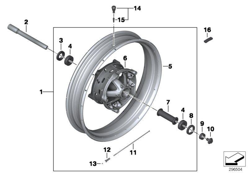 36318528530 speichenrad vorne bmw motorrad online g nstig. Black Bedroom Furniture Sets. Home Design Ideas