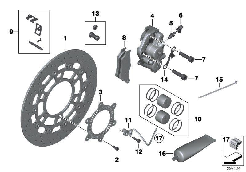 34117705216 satz bremsbelaege vorne bmw motorrad. Black Bedroom Furniture Sets. Home Design Ideas