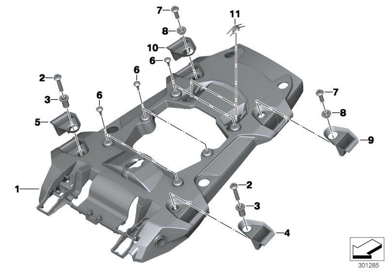 46628536970 hecktraegerteil bmw motorrad online g nstig kaufen. Black Bedroom Furniture Sets. Home Design Ideas