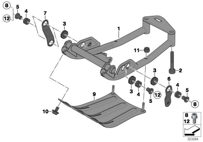 46527671691 unterfahrschutz bmw motorrad online g nstig kaufen. Black Bedroom Furniture Sets. Home Design Ideas