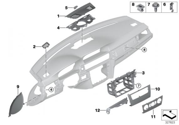 51457123753 blende center speaker doppelhutze bmw motorrad. Black Bedroom Furniture Sets. Home Design Ideas