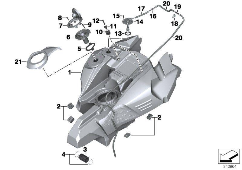 16118530522 kraftstoffbehaelter bmw motorrad online. Black Bedroom Furniture Sets. Home Design Ideas