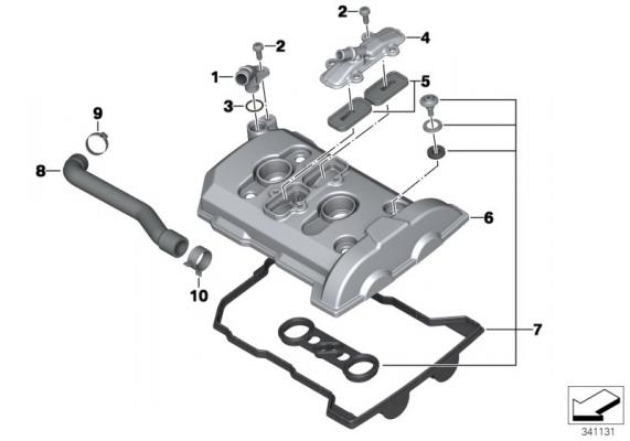 11128520621 dichtungssatz zylinderkopfhaube bmw motorrad. Black Bedroom Furniture Sets. Home Design Ideas