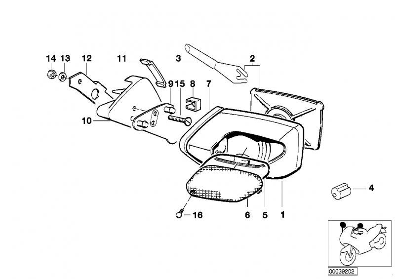 46631453001 lichtscheibe links bmw motorrad online g nstig. Black Bedroom Furniture Sets. Home Design Ideas