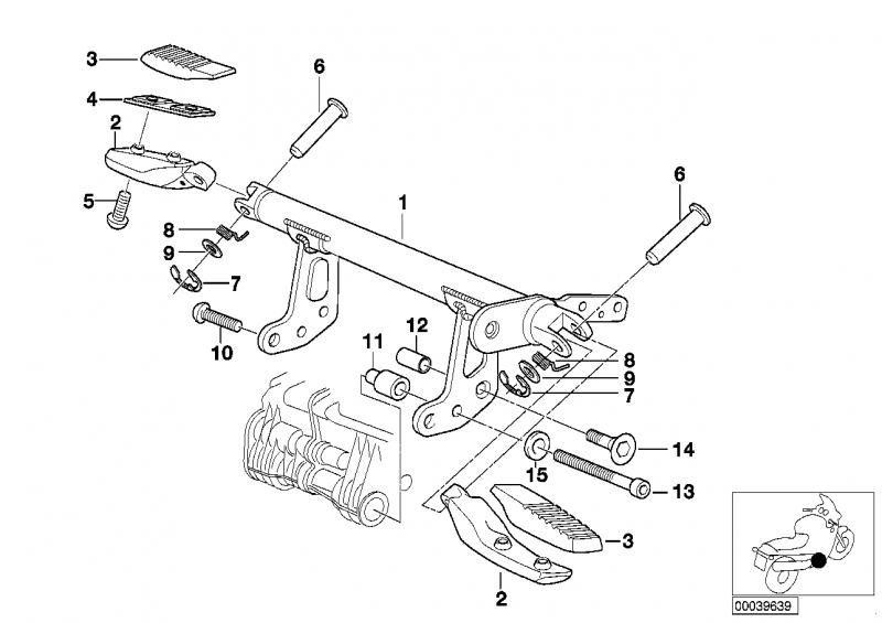 46712331425 fussrastengummi bmw motorrad ersatzteil online. Black Bedroom Furniture Sets. Home Design Ideas