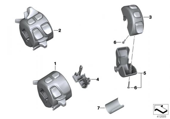 61318546166 kombischalter rechts bmw motorrad ersatzteil. Black Bedroom Furniture Sets. Home Design Ideas