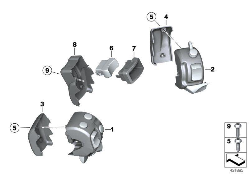 61317694980 kombischalter rechts bmw motorrad online. Black Bedroom Furniture Sets. Home Design Ideas
