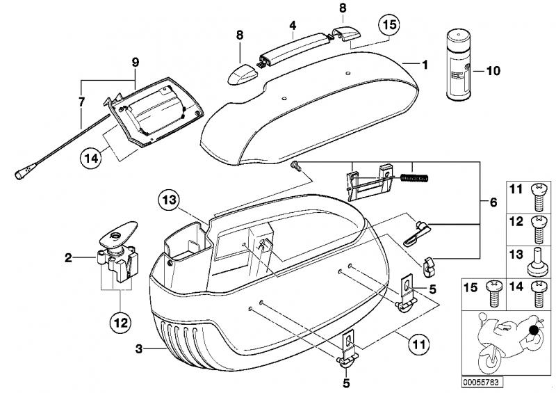 71602337190 verstaerkung rechts bmw motorrad online. Black Bedroom Furniture Sets. Home Design Ideas
