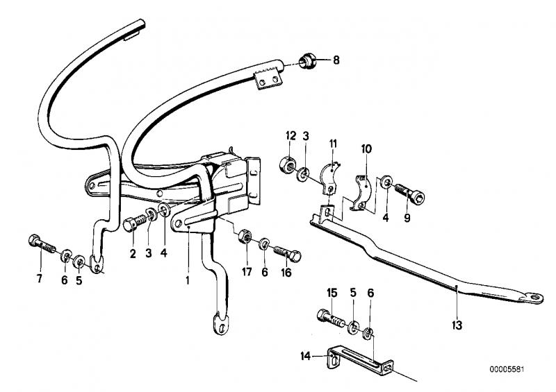46631234959 halter bmw motorrad ersatzteil online bestellen. Black Bedroom Furniture Sets. Home Design Ideas