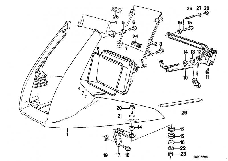 46631450564 windschutzscheibe bmw motorrad ersatzteil online. Black Bedroom Furniture Sets. Home Design Ideas