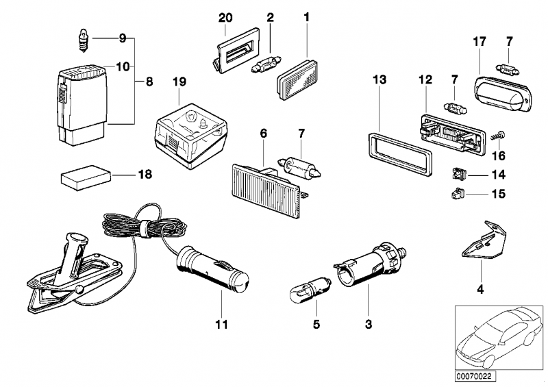 63311376046 innenleuchte bmw motorrad ersatzteil online. Black Bedroom Furniture Sets. Home Design Ideas