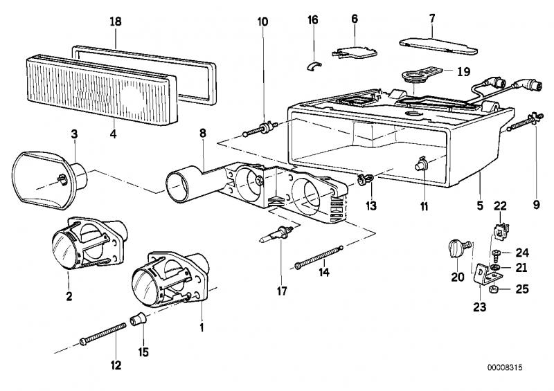 63121392319 abblendlicht bmw motorrad ersatzteil online. Black Bedroom Furniture Sets. Home Design Ideas
