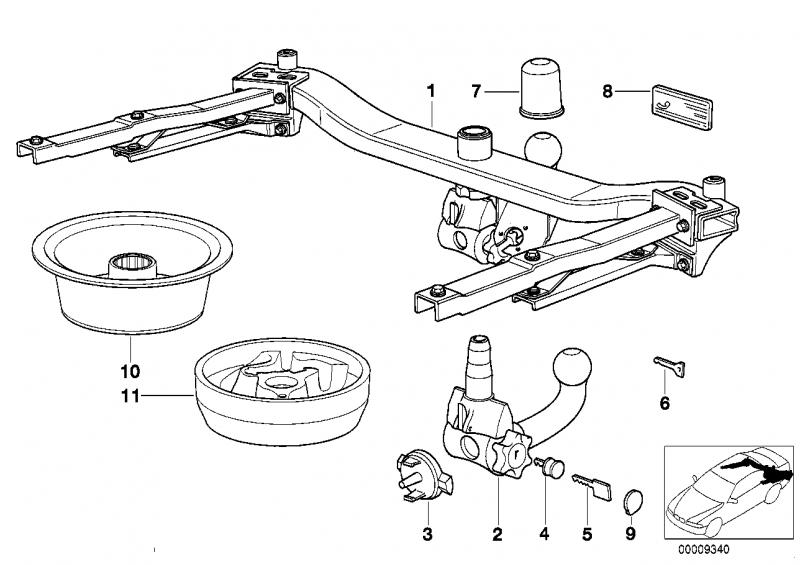 71601094121 anhaengerkupplung abnehmbar bmw motorrad. Black Bedroom Furniture Sets. Home Design Ideas