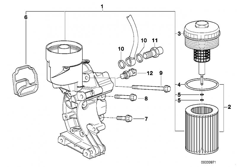 11421740001 aggregatetraeger mit oelfilter bmw motorrad. Black Bedroom Furniture Sets. Home Design Ideas