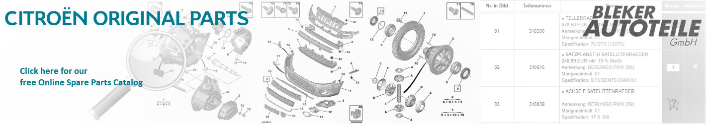 Citroën Genuine Spare Parts Catalog