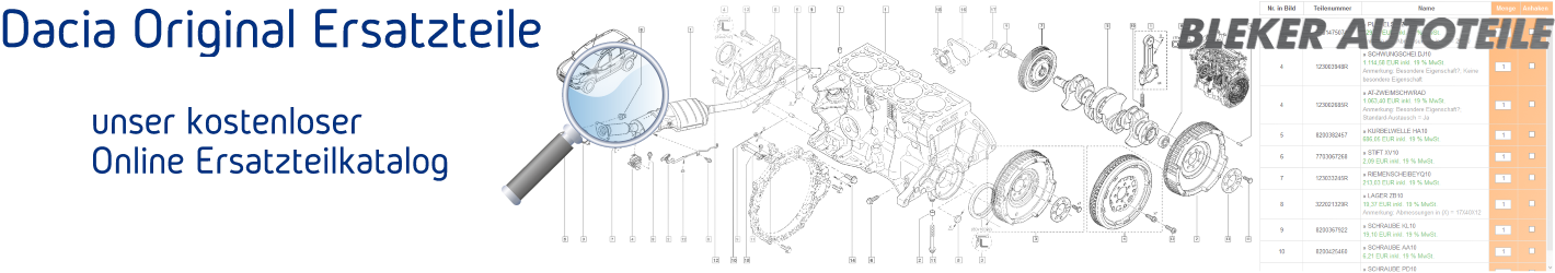 Dacia kostenlosen Online Ersatzteilkatalog