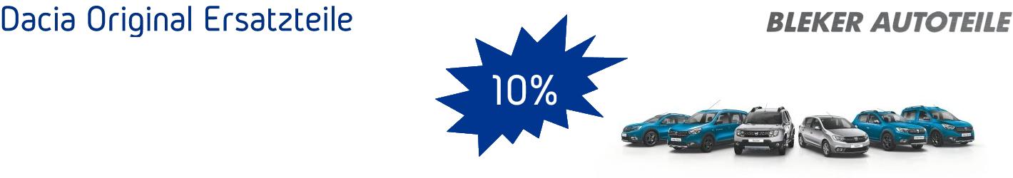 Dacia 10% Rabatt für alle Bestellungen größer 1000 Euro