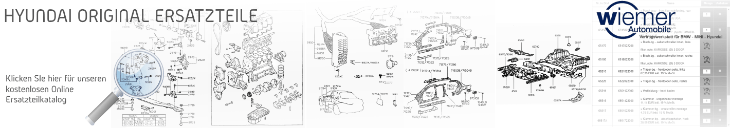 Hyundai kostenloser Original Ersatzteile Katalog