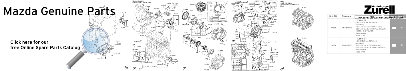 Mazda free Genuine Spare Parts Catalog