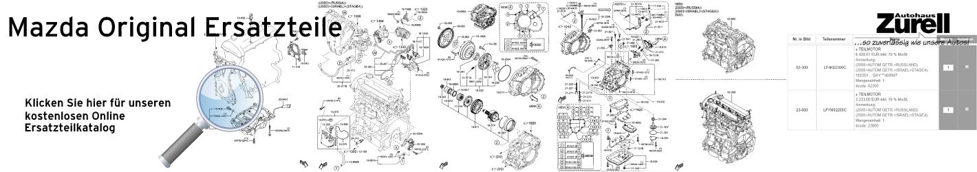Mazda kostenloser Original Ersatzteile Katalog