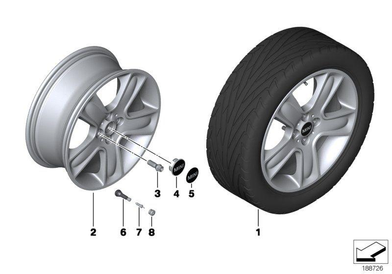 71102333675 tire mobility set mini spare part online. Black Bedroom Furniture Sets. Home Design Ideas