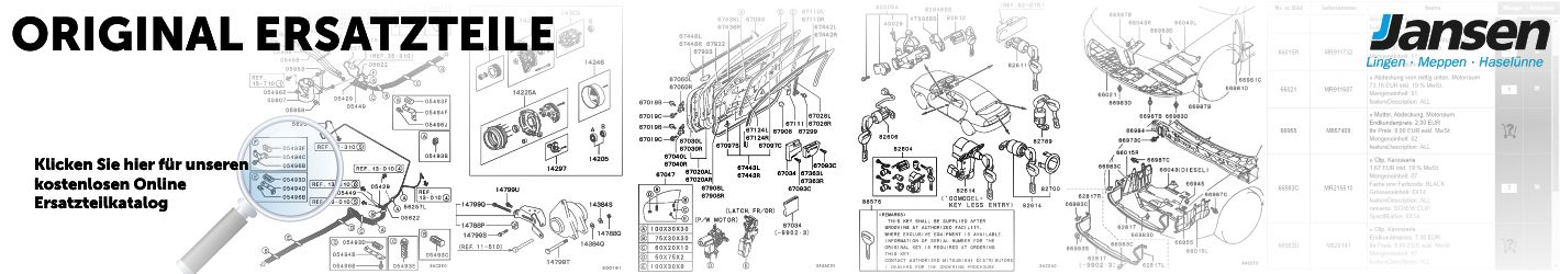 Mitsubishi kostenloser Original Ersatzteile Katalog