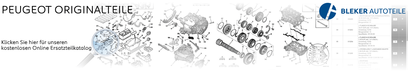 Peugeot kostenloser Original Ersatzteile Katalog