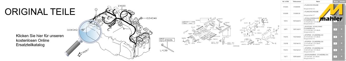 Subaru kostenloser Original Ersatzteile Katalog