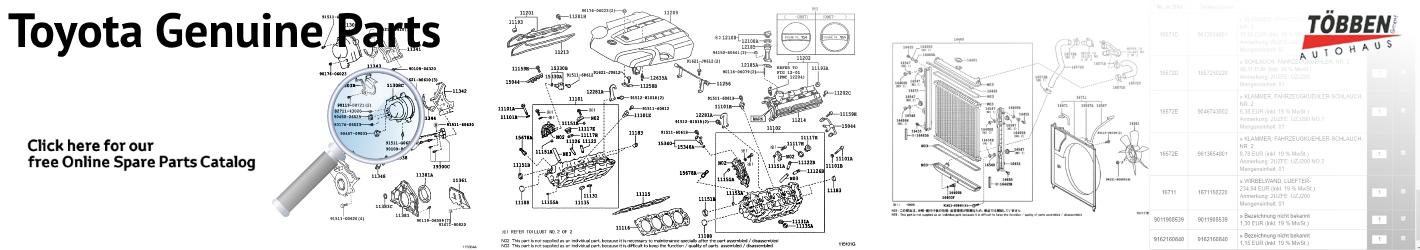 Toyota free Genuine Spare Parts Catalog